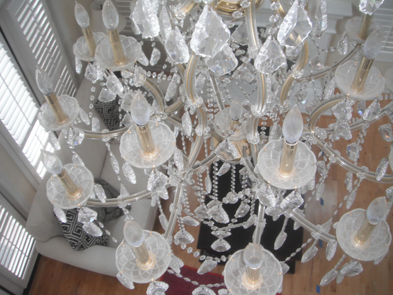 Chandelier cleaning service camarillo chandelier cleaners camarillo crystal chandelier cleaning service before mozeypictures Choice Image